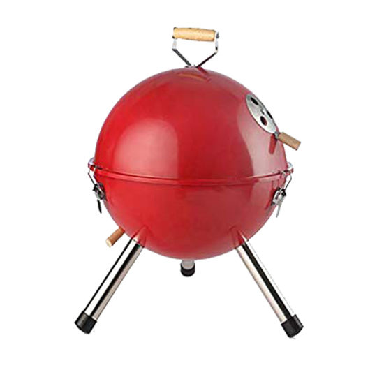 "12"" 14"" Outdoor Camping Simple Small Ball Shape Grill Mini Round BBQ Grill Foldable Portable Kettle Charcoal Barbecue Grill"