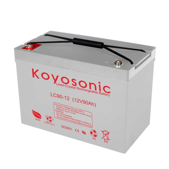 Lead Crystal 12V 90ah High Pure Lead Battery Solar Charged Battery