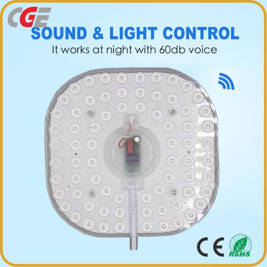 Optical-Sonic Control LED Module Source 24 W AC180-265V Round LED Light Module for Ceiling Light Fixture