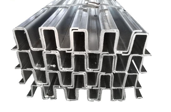 Q235 Carbon Mild Steel Gi Omega Profile for Building Frame by Asian Steel Company