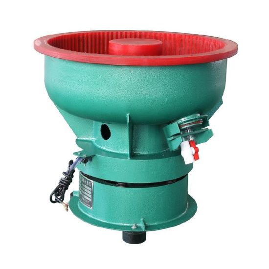 80L Small Bowl Vibratory Finishing Polishing Machines, Vibratory Polishing Machine for Batch Processing of Parts