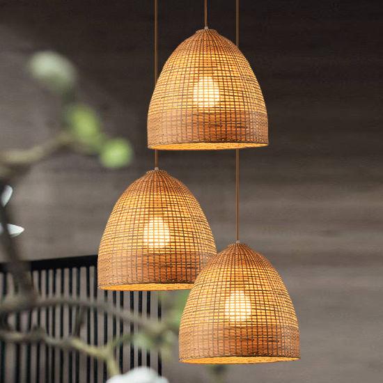 Wicker Basket Pendant Lights Kitchen Dining Room Sitting Room Decor (WH-WP-18)