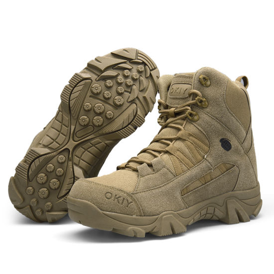 China Military Suede Leather Hiking