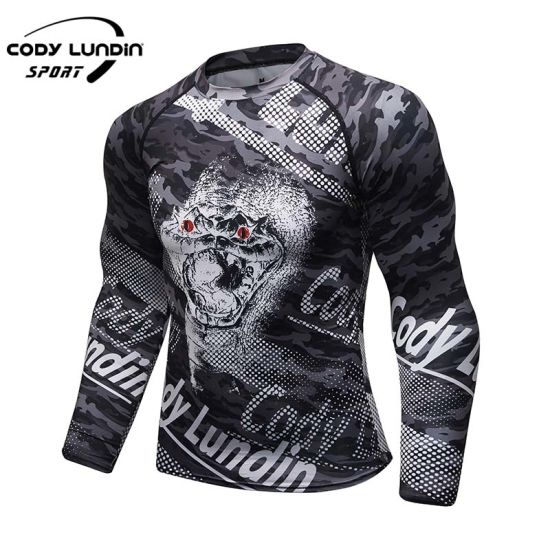 Sublimation Fitness Mens Gym Wear Custom 3D Printing Sports Long Sleeve T-Shirts