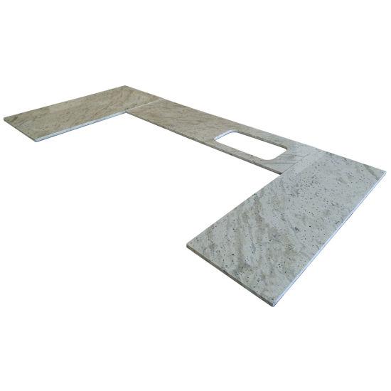 Custom Popular Andromeda White Granite Kitchen Island Countertop for Hotel/Aprtment