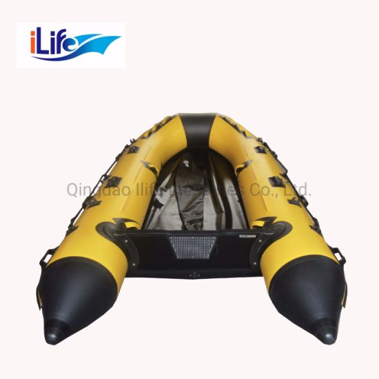 Ilife 2.3m PVC/Hypalon Inflatable Rescue Fishing Rubber Boat with Aluminum/Drop Stitch Air/Plywood Floor for Rescue