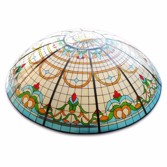 China Morden Structure Decor Hand Made Half Round Stained Glass