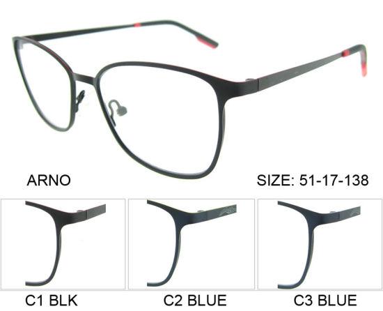 China Super Thin Eyeglasses Frame Stainless Metal Eyewear Optical ...