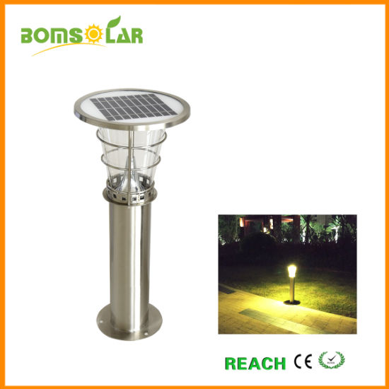 Outdoor Solar Garden Bollard Light