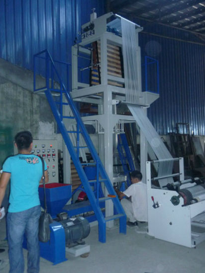 Rotary Die Head HDPE LDPE Film Blowing Machine (DC-SJ55) pictures & photos