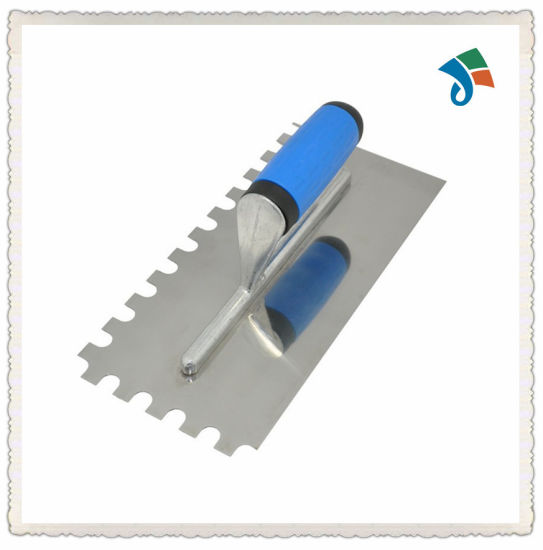 Stainless Steel Notched Blade Soft TPR Handle Masonry Tool Plaster Tools Plastering Trowel