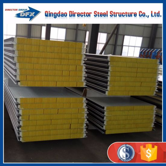 Price Preference Steel Insulated Panel PU / EPS/Glass Wool Sandwich Panels pictures & photos