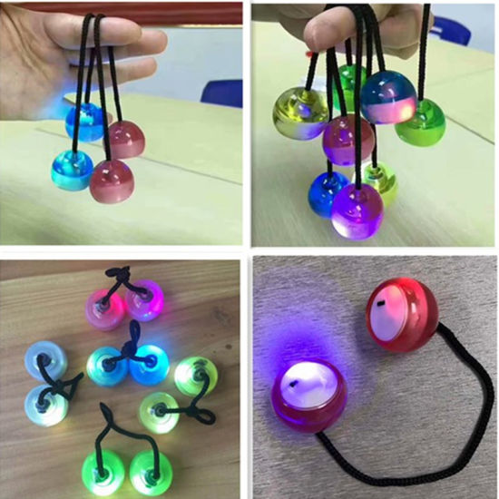 Relieves Stress LED Hand Spinner Yoyo Clacker Ball with Light pictures & photos