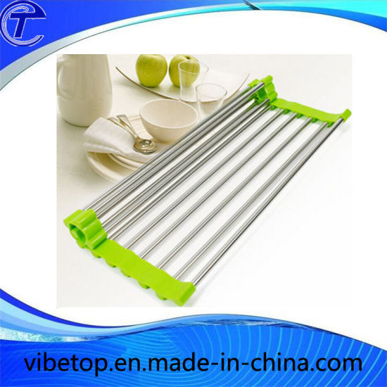 Stainless Steel Folding Style Water Draining Shelf (DS-01) pictures & photos
