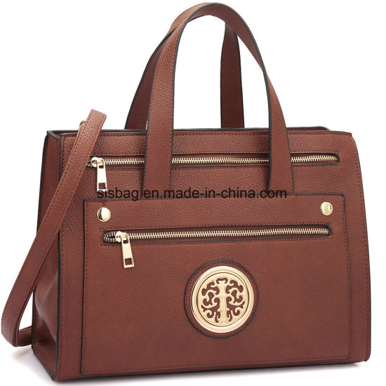 Designer Litchi Grain PU Leather Women Handbag Messeger Bag pictures & photos