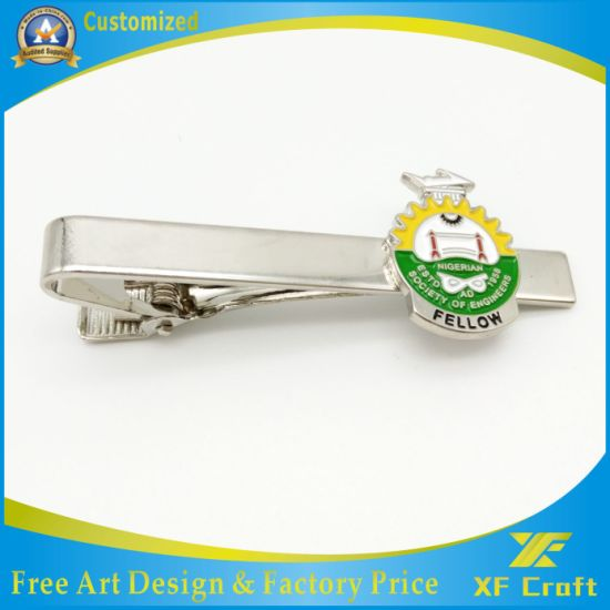 Manufacturer Custom High Quality Carton Metal Tie Bar with Low Price (XF-TB02) pictures & photos