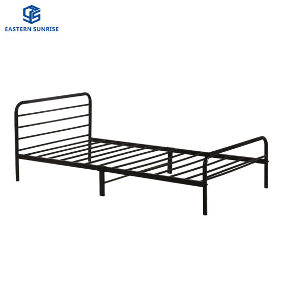 Wholesale China Factory Bedroom Furniture Simple Metal Bed