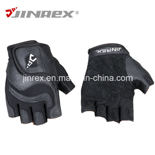 Jinrex Sports Weight Lifting Fitness Workout Leather Glove