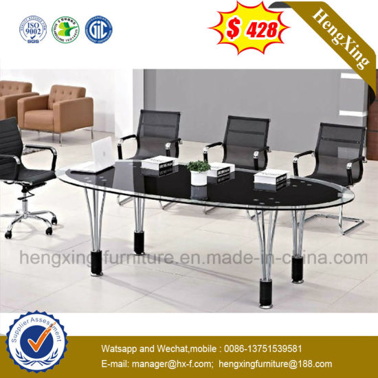 Assemble Turn Customize Round Shape Glass Conference Table
