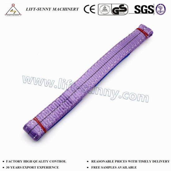 China 7 Times Lifting Slings En1492 1t Polyester Webbing Lifting