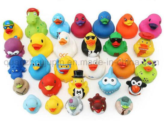 OEM Hot Sale Logo Plastic Kid Children Bath Duck Toy Rubber Plants Vs Zombies Cute Troll Doll Cartoon Clownfish Musical Dinosaur