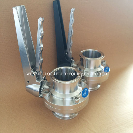 Sanitary Manual Butterfly Valve with Stainless Steel Handle pictures & photos