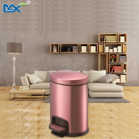 Champagne Golden  Soft Close  Stainless Steel Foot Curver Pedal Waste Bin pictures & photos