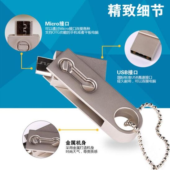 2017 The New U Disk Stick Pen USB Flash Drive Pendrive Silver OTG Se9 128MB-128GB pictures & photos