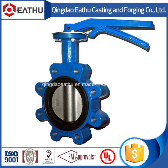 Double Flange Butterfly Valve with Worm Gear pictures & photos