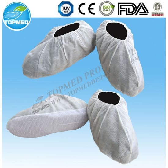 Nonwoven Shoe Cover with Anti-Skid, Disposable Shoe Cover pictures & photos