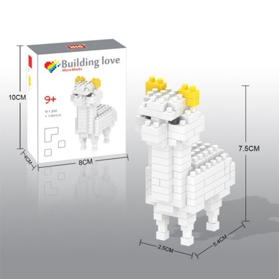 14889130-Micro Block Kit Animal Series Blocks Set Creative Educational DIY  Toy 110PCS - Alpaca