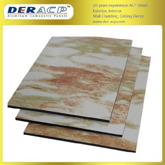 4mm/0.3mm Interior Design Building Material Stone Decorative Aluminum Composite Panel for Decoration
