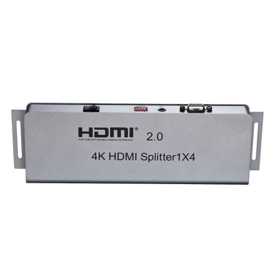 4k 1X4 HDMI 2.0 Splitter with IR (Support EDID, RS232) pictures & photos