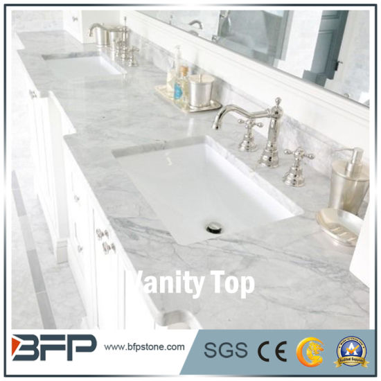 White Cultured Marble Vanity Tops