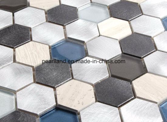 China Aluminum Mosaic Tiles Stone Matel Glass Tiles Decoration