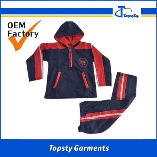 OEM Water Proof Polyester Mesh Lining Spring Chilren's Track Suits