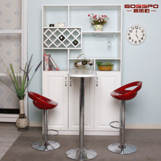 0df10f15f526 Living Room Furniture White Paint Solid Wooden Wine Cabinet (GSP9-054)  pictures &