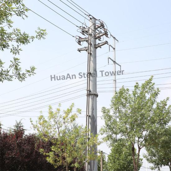 Hot DIP Galvanized Electric Transmission Line Iron Pipe Mono Pole
