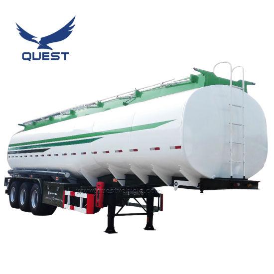 Quest 40000-50000L Oil Tank Truck Fuel Tanker Semi Trailer