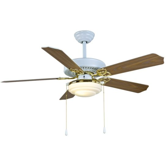 "52"" Ceiling Fan with Lighting White and Gold pictures & photos"