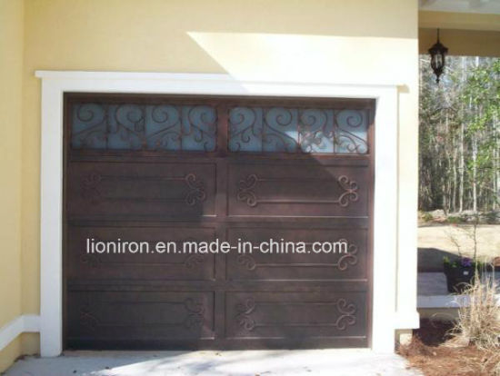 Automatic Metal Sectional Wrought Iron Garage Door pictures & photos