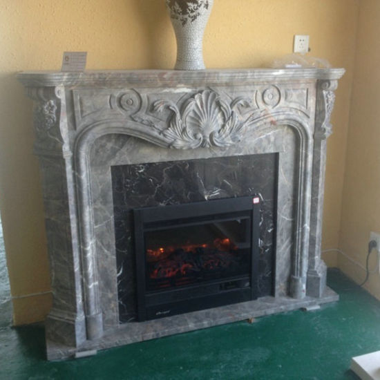 Custom Designed  Marble Fireplace Mantels pictures & photos