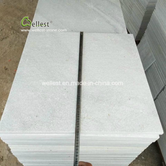 China White Flamed Natural Stone Paver White Granite Polished
