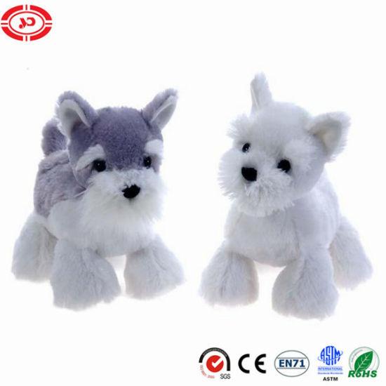 Scottie Dog&Schnauzer Standing Puppy Plush Toy for Kids