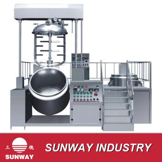 500 L Vacuum Cream Sauce Cosmetic Homogenizing Mixer Machine Equipment