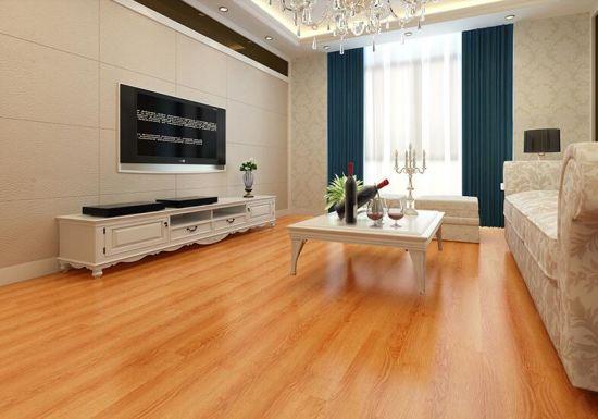 China High Glossy Surface Treatment Hdf E0 Laminate Flooring China