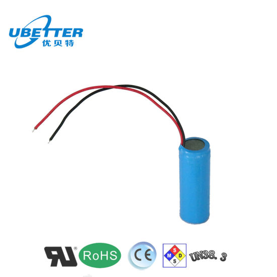 1s1p Li-ion Battery Pack 3.7V 2400mAh with Ce RoHS