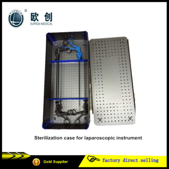 Reusable Medical Hospital Laparoscopic Surgical Instruments Sterilization Case