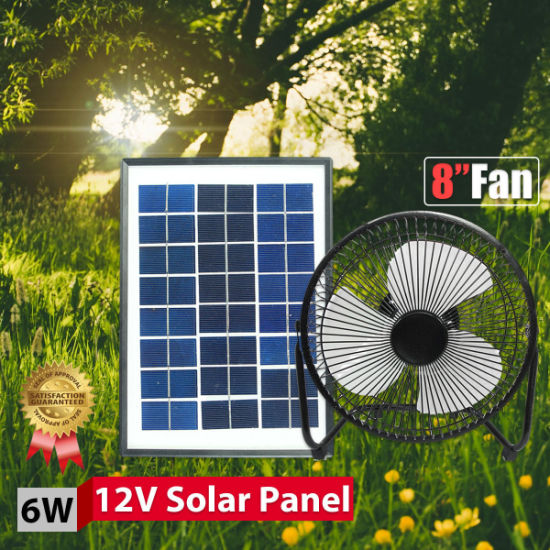 China Camping Light Solar Power with Fan LED Light Table Top Power
