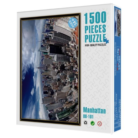 1500 Piece Cardboard Jigsaw Puzzle Wholesale Large Adult Decompression Puzzle Game OEM Available